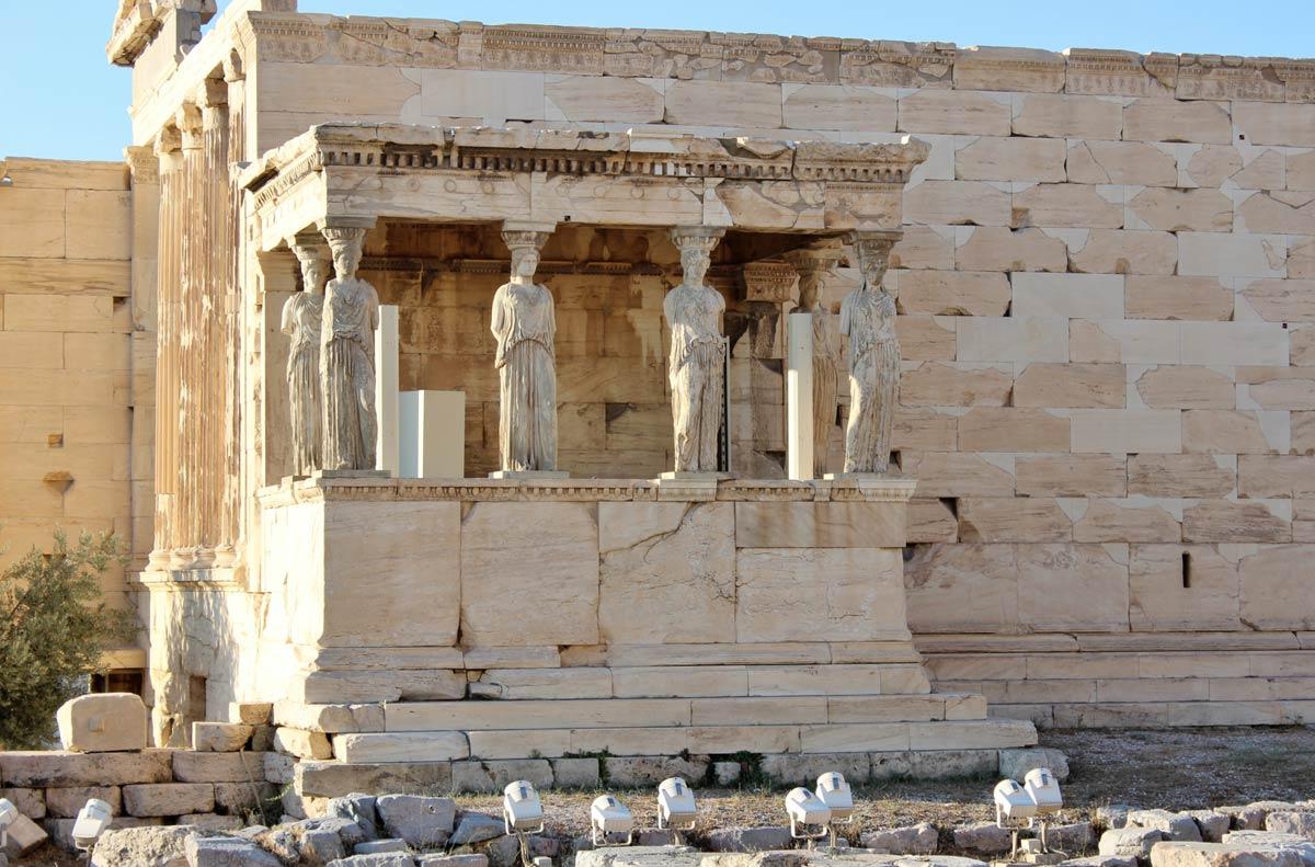 Acropole cariatides athene grece