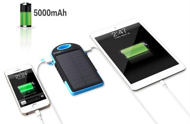idee cadeau voyage chargeur solaire