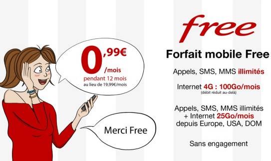 forfait free mobile promo